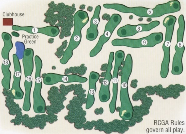 Kinkora Golf Course layout